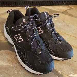 New Balance black and pink 470 running shoes